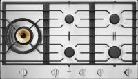 HG1986SB-Газова поверхня Газова варильна поверхня з нержавіючої сталі, з 1 конфоркою Super Flex Wok™, 4 гібридними конфорками A+ і антипригарним покриття Nano Tech