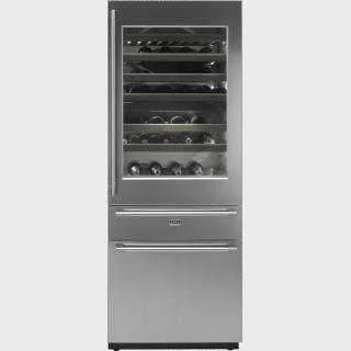 RWF2826S-Вбудований комбінований винний холодильник Вбудований холодильник і морозильна шафа об'ємом 274/79л, A++ і охолоджувальний відсік для вина